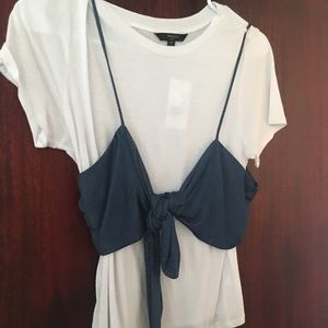 Tops - Shirt with cute vest